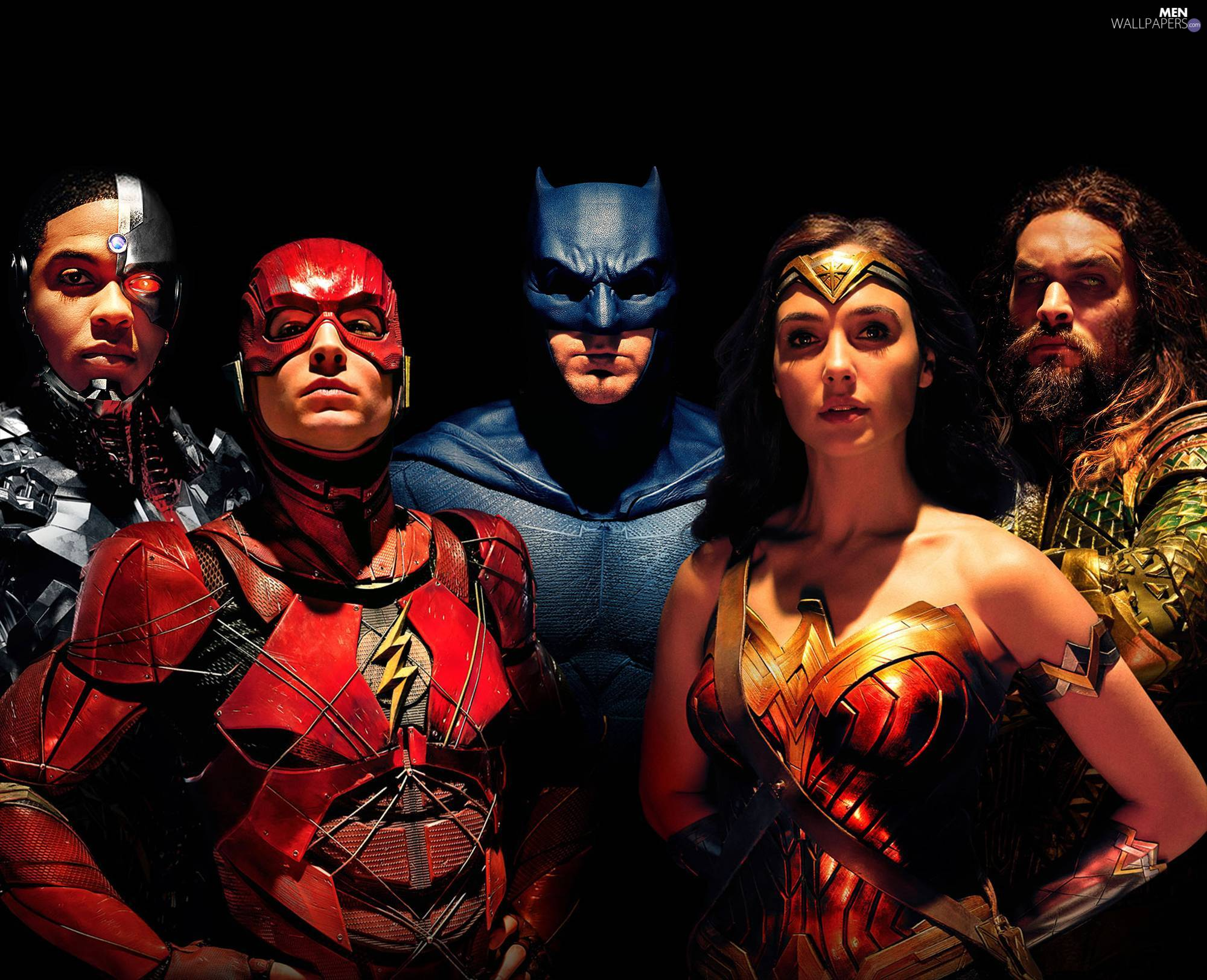 Ben Affleck - Batman, Justice League, Ezra Miller - Flash, Ray Fisher - Cyborg, movie, Jason Momoa - Aquaman, Gal Gadot - Wonder Woman