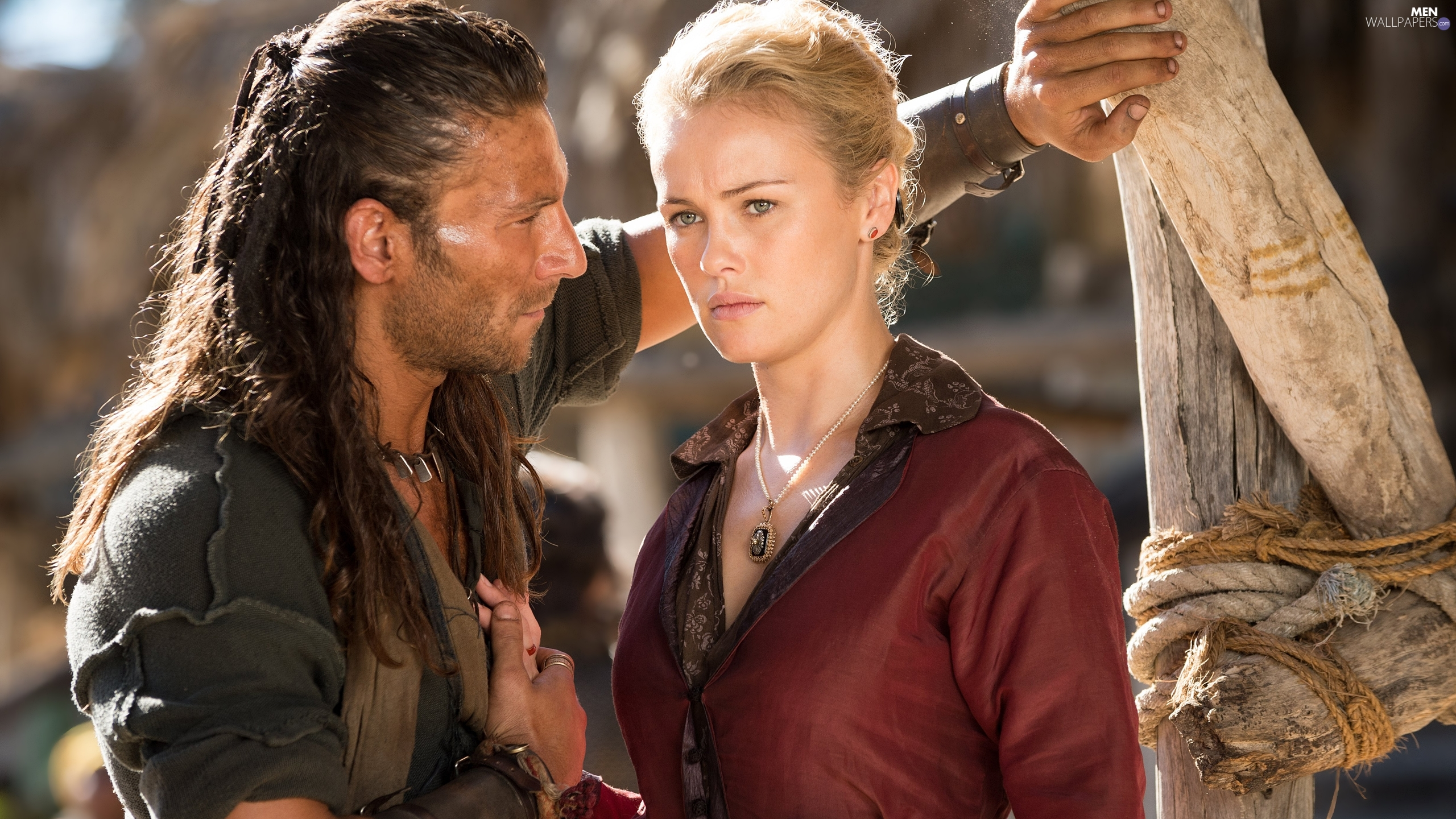 Zach McGowan, Black Sails, Hannah New, pirate, series, Captain Charles Vane, Eleanor Guthrie