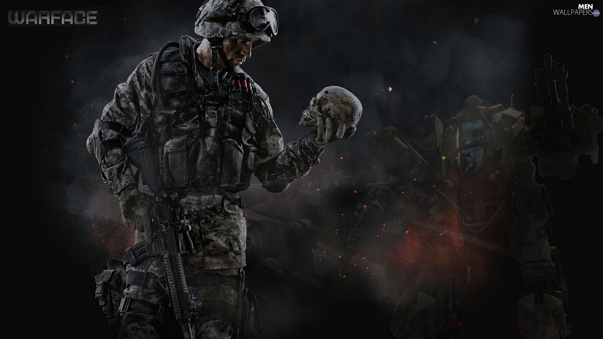game, soldier, skull, Warface