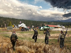 farm, game, trees, viewes, soldiers, Far Cry 5