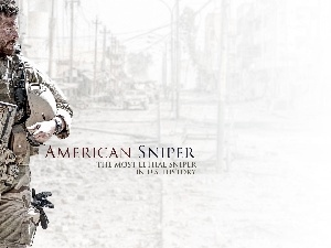 Bradley Cooper, movie, uniform, actor, American Sniper, soldier, Weapons