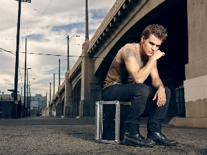 Paul Wesley, under-shirt, box, actor