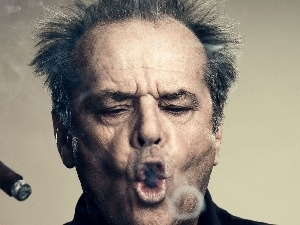 a man, Jack Nicholson, cigar, actor
