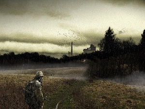 gas, forest, soldier, Mask, Storm